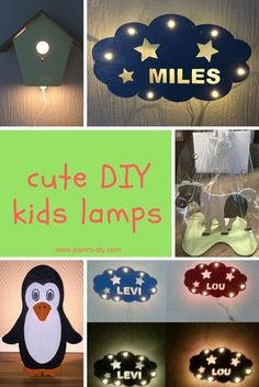 cute DIY kids lamps