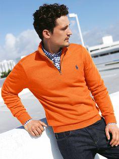 Ralph Lauren orange Polo pullover #menswear