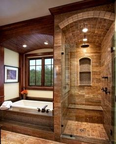 Master Bathroom Walk In Shower Ideas is part of Rustic bathroom designs Among the ideas is to get wood vanities with its normal wood finish without the laminates If you're looking for master bath -
