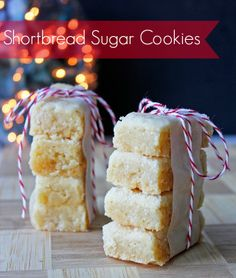 Easy Shortbread Sugar Cookie Recipe. Perfect Holiday Cookies!