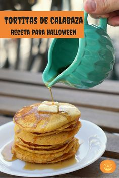 La receta para tortitas de calabaza, una receta perfecta para Halloween.