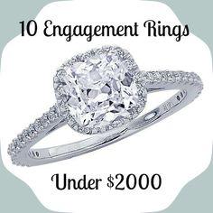 Best Engagement Rings Under $2000