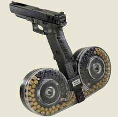 Beta C-MAG SYSTEM For 9MM Glock Pistol, 100 Round, Clear Cover ...