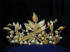 Dragonfly & leaf tiara