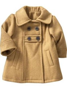 ADORABLE tan pea coat for a little one