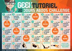 Challenge de 30 jours pour un votre plat et des abdos musclé | Geek Tutoriel