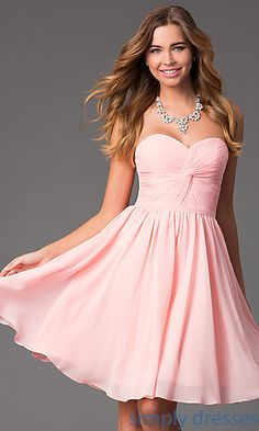 Dresses, Formal, Prom Dresses, Evening Wear: Short Strapless Sweetheart Dress