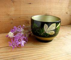 Khokhloma wooden bowl, Russian folk art