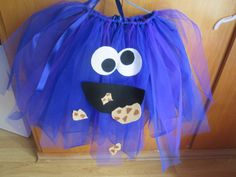 disfraces para niños/ kids costumes tutu dress cookie monster/ tutu disfraz monstruo de las galletas