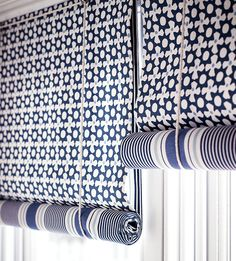 Blue and white nautical blinds to illustrate choosing blinds