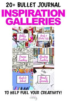 All kinds of inspiration for your bullet journal in one place! Check out 20+ galleries full of beautiful spreads.