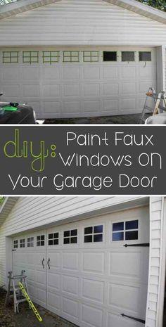 Paint faux windows on your garage door.