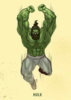 (Gym Trainer Hulk) By: Desar Yuartha Hulk Avengers, Marvel Art, Marvel Avengers, Ms Marvel, Captain Marvel, Punisher Marvel, Marvel Comics Superheroes, Marvel Heroes, Hulk Artwork