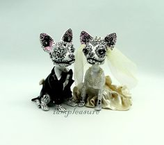 Hey, I found this really awesome Etsy listing at https://www.etsy.com/listing/210398791/skull-chihuahua-wedding-handmade-skull