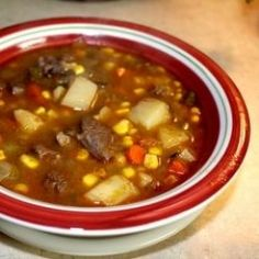 My favorite Venison stew. My husband is a deer hunter, I am not. However, I have learned to cook venison and enjoy it so much that I don't mind when he spends all day on weekends sitting in a tree stand. Guess there could be worse hobbies that last year round.  A few years...