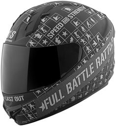 Amazon.com: Speed and Strength Full Battle Rattle Men's SS1400 Sports Bike Motorcycle Helmet - Matte Black/Charcoal / Medium: Automotive