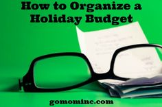 Hosting Thanksgiving? Time to make sure you've got that holiday budget in check. All those special holiday entertaining expenses can really creep up on you but thanks to our GO MOM! DIY Holiday Bundle ~ we've got a worksheet or 12 for that =) How to Organize A Holiday Budget - GO MOM!