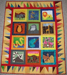 How to make a group quilt - something like this for a Shakespeare Quilt to raffle.