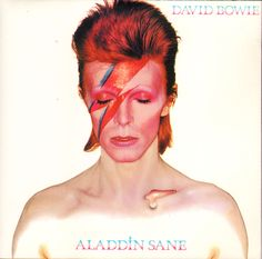 ClashMusic: Classic Album, Recorded in London and New York in 1973 to a backdrop of infidelity and egotism, 'Aladdin Sane' saw David Bowie break from musical convention and transcend Glam Rock, the movement he had spawned. Aladdin Sane, Brian Duffy, Bowie Ziggy Stardust, David Bowie Ziggy, Mick Jagger, Glam Rock, Beatles, Bob Dylan, Lady Grinning Soul