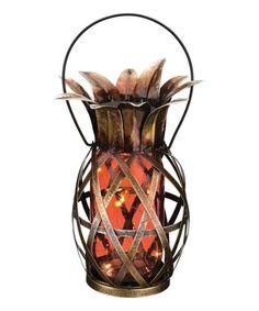 Love this Orange Solar Pineapple Lantern on #zulily! #zulilyfinds
