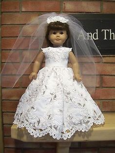 DIY – How to Make: Doll UGG Boots – Winter – Holiday – Craft – American Girl Doll Clothes Lace Cutout Wedding Dress Set - nimivo sites American Girl Doll Costumes, American Girl Crafts, American Doll Clothes, Ag Doll Clothes, Doll Clothes Patterns, American Girls, Doll Patterns, Diy Wedding Dress, Wedding Dress Patterns