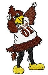 Cocky Gamecock embroidery design