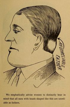 Young ladies, all men with heads shaped like this are unreliable as fathers.  (1902)
