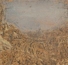 Hercules Seghers - Mountain Gorge Bordered by a Road (1615-1630)