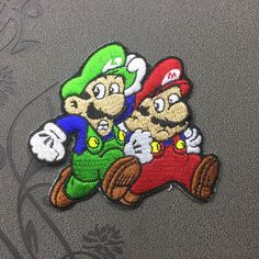 Mario patch Iron on patch Iron on Applique Cartoon hat patch bag patch Embroidered sew on patches