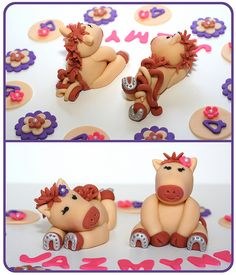 Horsie Cake & Cupcake Toppers