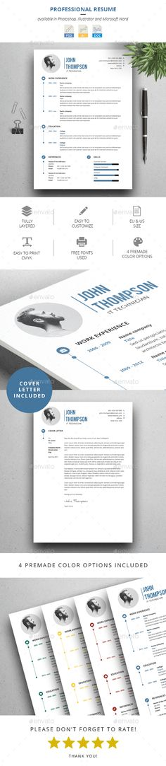 Clean Resume\/CV Resume cv, Graphics and Cv cover letter - cv and cover letter