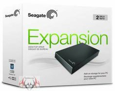 Review Seagate Expansion Desktop 2TB - the box