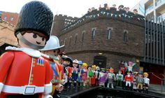 Playmobil's 40th anniversary celebrations. Giant takeover at Camden's Pirate Castle Camden Lock