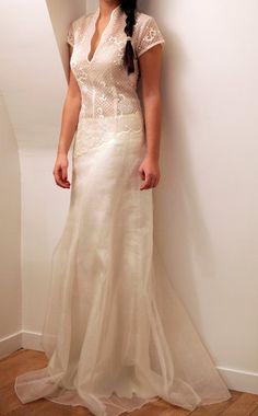 Robe de mariée Evanescence en organza de soie à Paris