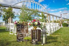 outdoor ceremony at Moon Property in Chesapeake City MD