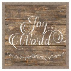 Joy To The World Wall Decor - A Homespun Christmas
