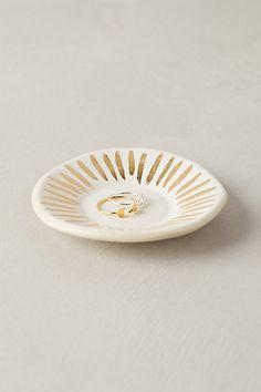 gilded ripple trinket dish / anthropologie