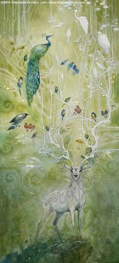 Stephanie Law - watercolor painter, botanical illustrator and artist of fantastical dreamworld imagery. Art And Illustration, Fantasy Creatures, Mythical Creatures, Creation Art, Inspiration Art, Oeuvre D'art, Spirit Animal, Amazing Art, Illustrators