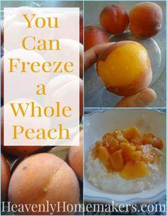 You Can Freeze a Whole Peach