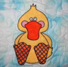Duck PDF applique pattern; farm quilt applique block; kids quilt PDF pattern; mallard duck block pattern; bird quilt PDF pattern; baby quilt