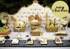 ways to serve and include cheese in your wedding by oh lovely day