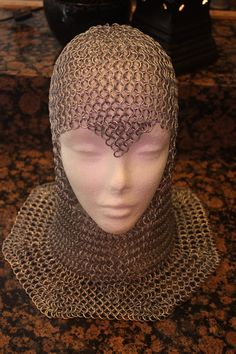 Chainmaille Armor Helm Coif head piece With by TwistedShenanigans- I think a coif might by next on my list.