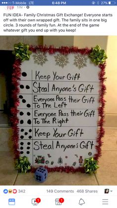 Family christmas games ideas signs New Ideas Xmas Games, Holiday Games, Christmas Games, Christmas Activities, Holiday Crafts, Holiday Fun, Christmas Decorations, Christmas Ideas, Fun Games