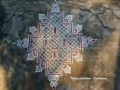 Rangoli Designs Flower, Rangoli Border Designs, Rangoli Designs Diwali, Rangoli Designs With Dots, Rangoli Designs Images, Kolam Rangoli, Rangoli With Dots, Beautiful Rangoli Designs, Simple Rangoli