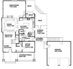 plano de casa con cochera independiente