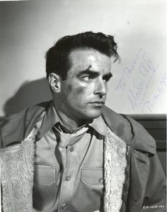 Montgomery Clift in an autographed publicity still for FROM HERE TO ETERNITY (1953)