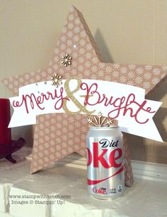 Largest star box in Stampin Up Many Merry Stars Kit - avail Oct 20 Stampin Up Many Merry Stars, 3d Home, 3d Projects, Christmas Cards, Catalog, Paper Crafts, King, Create, Box