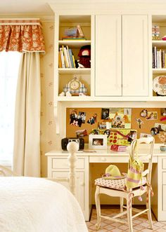 Love this built in idea for Megan's room...need more storage!