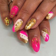 Birthday Vegas nails for Lili  @lilis1233 #nailart #nails #sparklesf #vegas #gelnails
