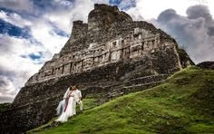 San Ignacio, Belize: San Ignacio is one of the most popular regions of Belize. The nearby Mayan ruins and caves make it the ideal wedding destination for all those explorer types. In fact, you can even tie the knot inside one of these ancient Mayan temples. #belize #belizewedding #dreamwedding